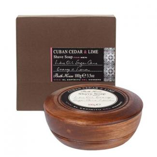 Bath House Scheerzeep Cuban Cedar & Lime
